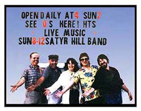 The Satyr Hill Band 1986: Dan Curtis, Judd Hawkins, Dodie McMillan,