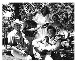 The Satyr Hill Band 1989. Judd Hawkins, Tom Lather, Bob Perilla, Liz Entwisle, Dan Curtis.